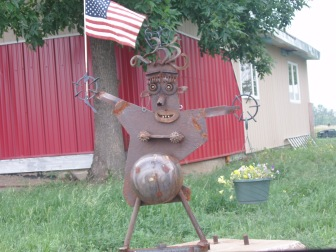 North Dakota yard art