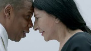Jay Z and Marina Abromovic eye to eye